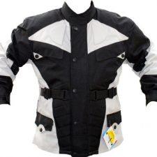 German Wear–Chaqueta de moto, color negro y gris claro Ropa para motoristas