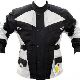 German Wear – Chaqueta de moto, color negro y gris claro