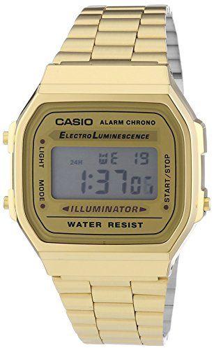 Casio Collection – Reloj Hombre Correa de Dorado A168WG-9EF Relojes