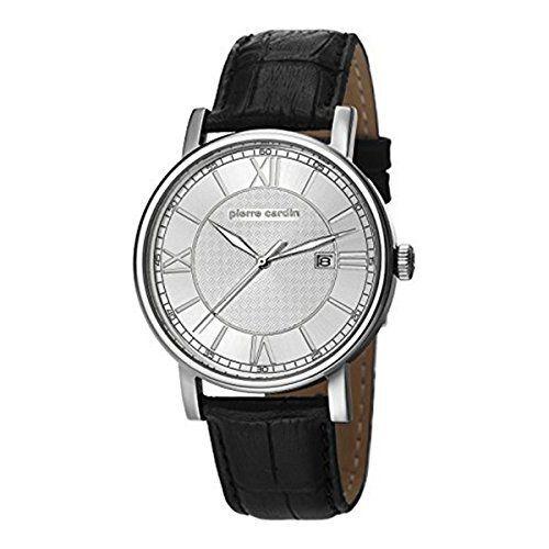 Pierre Cardin PC106501F01 - Reloj para hombres, correa de cuero color negro