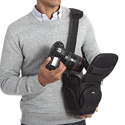 AmazonBasics – Funda para cámara de fotos réflex, color negro