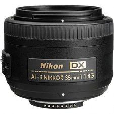 Nikon AF-S DX 35mm 1.8 G – Objetivo para Montura  (distancia focal fija 52.5mm, apertura f/1.8) color negro Objetivos para Cámaras