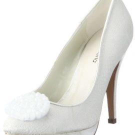 05303d4301c Paco Mena Marina 04753 – Zapatos de novia de tela para mujer
