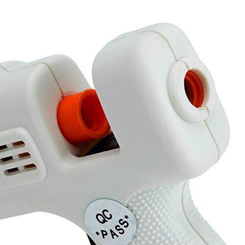 KYG Pistola de pegar/silicona/encolar/termofusible/Fusion con 25X Barra de Pegamento Adhesivo Termofusible para Pistola de Fusión Térmica