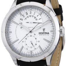 Festina F16573/1 – Reloj analógico de cuarzo para hombre con correa de piel, color negro Relojes Festina