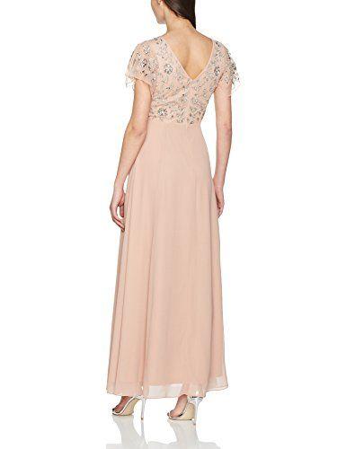 Frock and Frill Rhonda Sequin Maxi Dress, Vestido de Noce para Mujer, Rosa (Blush), 38