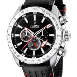 FESTINA F16489/5 – Reloj de caballero de cuarzo, correa de piel color negro