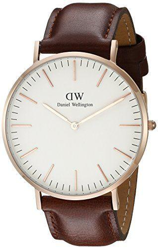 Daniel Wellington 0106DW Reloj Analógico para Hombre de Cuero Marrón