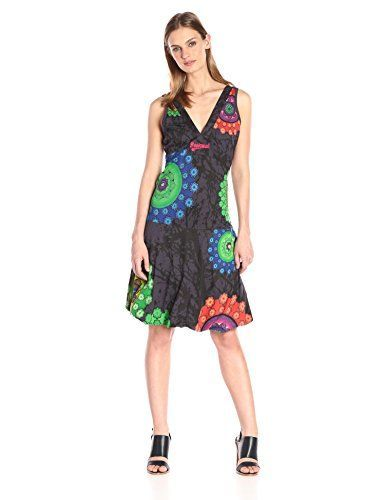 Desigual, GINNGERY - Vestido para mujer, color new green, talla XS