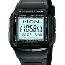 CASIO Collection DB-36-1AVEF – Reloj unisex de cuarzo, correa de resina color negro (con cronómetro, alarma, luz) Relojes