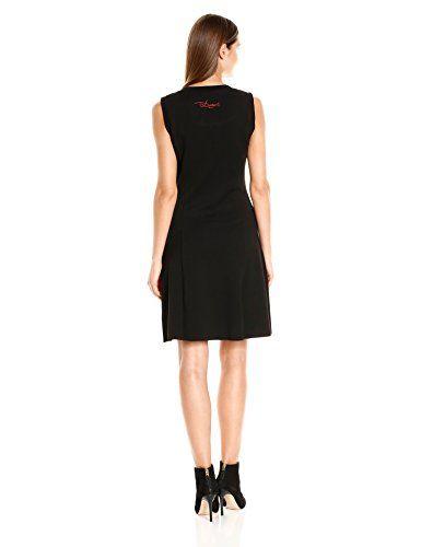 Desigual VEST_MIMOSA, Vestido para Mujer, Gris (Gris Vigore Casi Negro Tejido), 36 (Talla del Fabricante: M)