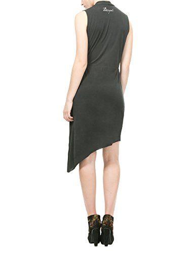 Desigual VEST_STELLA, Vestido para Mujer, Negro (Negro 2000), 38 (Talla del Fabricante: L)