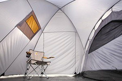 Grand Canyon Fraser 3 – Tienda para camping (tienda para 3 personas), gris/naranja