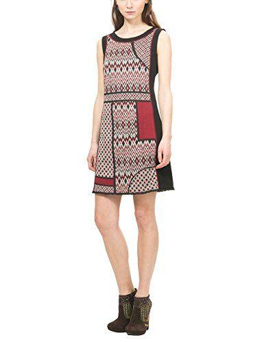 Desigual VEST_DAMARA, Vestido para Mujer, Negro (Negro 2000), 40 (Talla del Fabricante: XL)