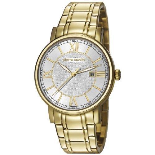 Pierre Cardin pc106501f07 PC106501F07 - Reloj para hombres, correa de acero inoxidable color dorado