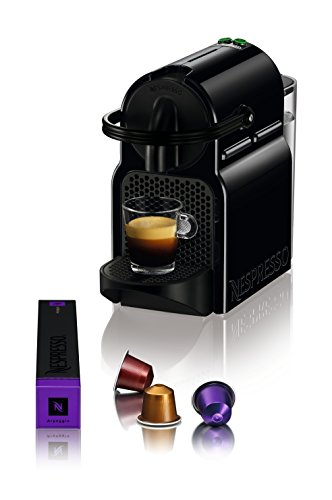 DeLonghi Nespresso Inissia EN 80.B – Cafetera automática, 19 bares, color negro