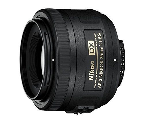Nikon AF-S DX 35mm 1.8 G – Objetivo para Montura  (distancia focal fija 52.5mm, apertura f/1.8) color negro