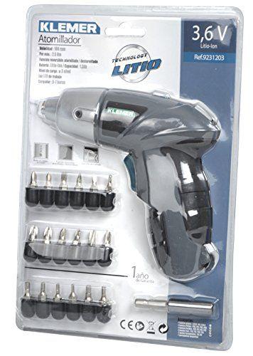 Klemer 9231203 – Atornillador, batería de litio 1,3 Ah (3,6 W, 3,6 V) Bricolaje y herramientas