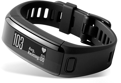 Garmin Vívosmart HR - pulsera de actividad con pulsómetro integrado Garmin Elevate, color negro, talla normal