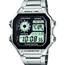 Casio Collection – Reloj Hombre Correa de Acero Inoxidable AE-1200WHD-1AVEF Relojes