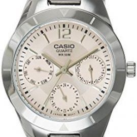 CASIO Collection LTP-2069D-4AVEF – Reloj de mujer de cuarzo, correa de acero inoxidable