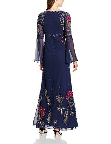 Frock and Frill Vestido Thalia Embellished Maxi Dress Azul ES 38 (UK 10)