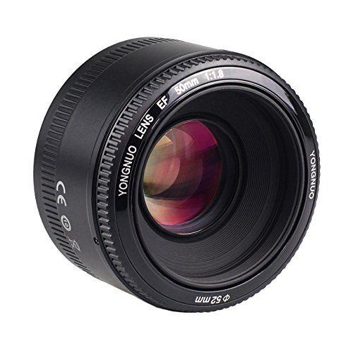 Yongnuo Objetivo lente de 50 mm f/1.8 para Canon EF con TARION bolsa