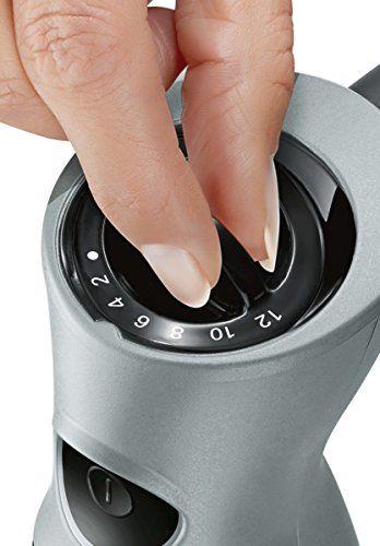 Bosch ErgoMixx MSM67170 – Batidora de mano, 750 W, regulador de velocidad y velocidad Turbo, cúpula con cuatro cuchillas, con picador, varilla