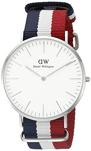 Daniel Wellington 0203DW – Reloj con correa de cadena y acero para hombre, color blanco / gris