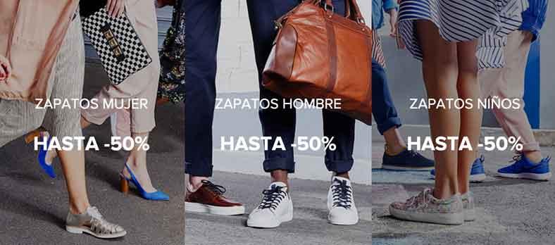¡Rebajas de hasta un 50% en zapatos, zapatillas y bolsos!