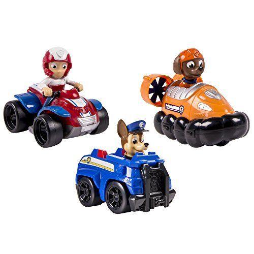 Paw Patrol – Racers Team Pack – Chase, Zuma & Ryder – Set 3 Mini La Patrulla Canina