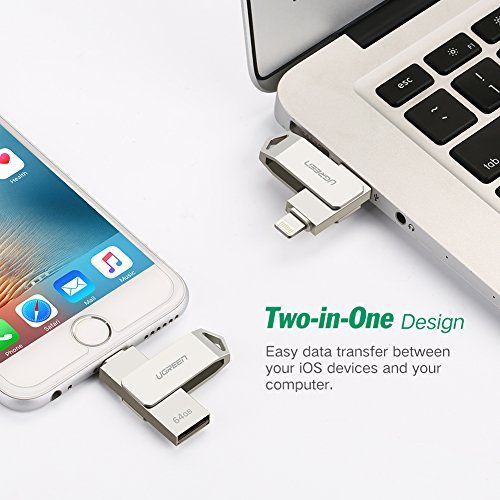 Memoria USB para iPhone y iPad, UGREEN Pendrive 64GB [Apple MFi
