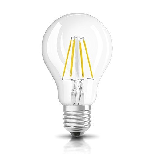 Osram Retrofit Classic A – Lámpara LED, E27, 6W, color blanco