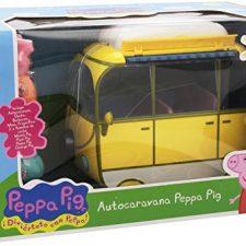 Peppa Pig – Auto caravana de vacaciones, color amarillo (Bandai 84211) Peppa Pig - Juguetes