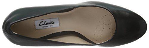 Clarks Kendra Sienna, Zapatos de Tacón para Mujer, Negro (Black Leather), 37 EU