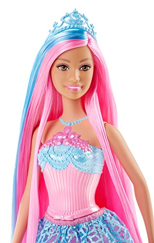 Barbie – Muñeca, princesa peinados mágicos, color azul (Mattel