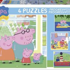 Peppa Pig – Puzzles progresivos, 6 – 9 – 12 – 16 piezas (Educa Borrás 15918) Peppa Pig - Juguetes