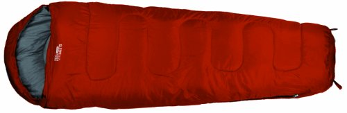 Highlander - Saco de dormir infantil Sleepline 300 Mummy Junior, color rojo, tamaño único, SB039J-MO-01