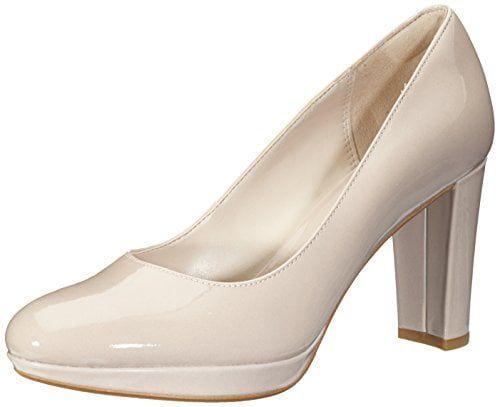 Clarks Kendra Sienna, Zapatos de Tacón para Mujer, Beige (Nude Patent), 41 EU