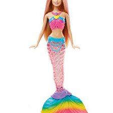Barbie – Muñeca, sirena luces de arcoíris (Mattel DHC40) Barbie