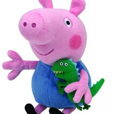 Peppa Pig – Peluche de George con dinosaurio (TY) Peppa Pig - Juguetes