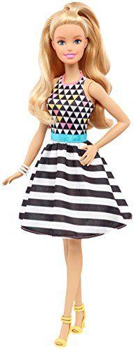 Barbie Fashionista – Muñeca con vestido de rayas