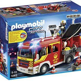 Playmobil Bomberos – Camión con luces y sonido, playset (5363)