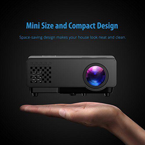 Proyector LED 1080P de Mpow, con Interfaz de Entrada HDMI, VGA, AV y