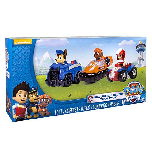 Paw Patrol – Racers Team Pack – Chase, Zuma & Ryder – Set 3 Mini