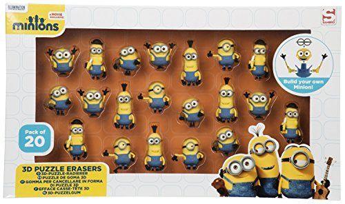 Sambro min3–6172Minion 3d Puzzle goma de borrar en caja de
