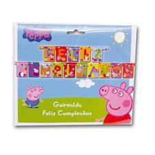 Peppa Pig – Guirnalda Feliz Cumpleaños (Verbetena 5652216) Peppa Pig - Juguetes
