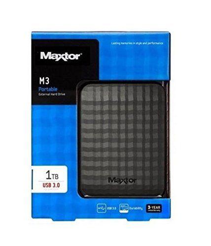 """Maxtor STSHX-M101TCBM - Disco duro externo de 1 TB 2.5"""", HDD, USB"""
