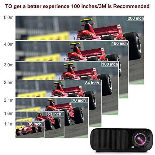 LESHP Mini Proyector LED 1080p HD HDMI / VGA / USB / AV / TV Home