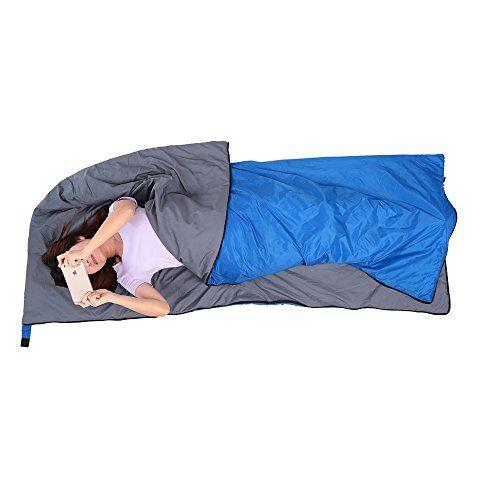 Lixada Saco de Dormir de Forma de Sobre Ultraligero Multifunción 190 * 75cm 680g